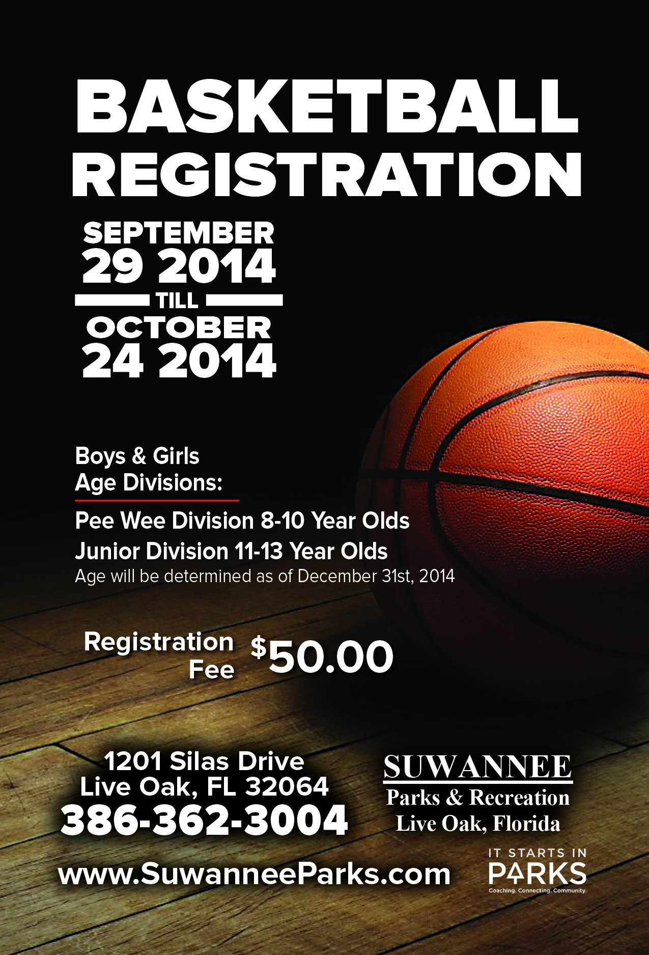 Basketball suwannee parks and recreation for Basketball tournament program template